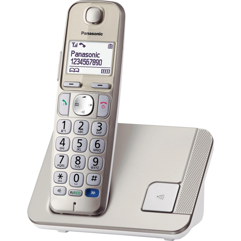 Panasonic Schnurloses DECT-Telefon »KX-TGE210GN«, (Mobilteile: 1 ), Freisprechen, Weckfunktion