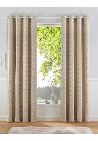 Vorhang, »Romb«, Leonique, Ösen 1 Stück kaufen
