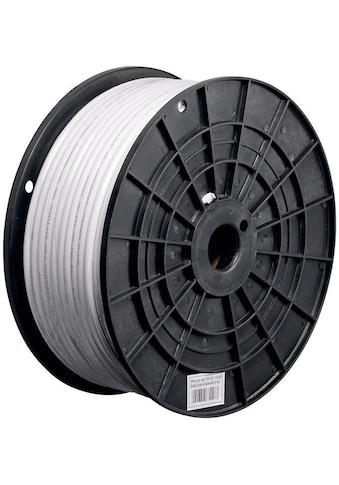 Goobay 120 dB Koax - Antennenkabel »4x geschirmt, CCS, 100 m, Weiß« kaufen