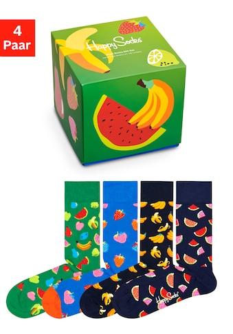Happy Socks Socken »Fruit«, (Box, 4 Paar), mit Früchten in Geschenkbox kaufen