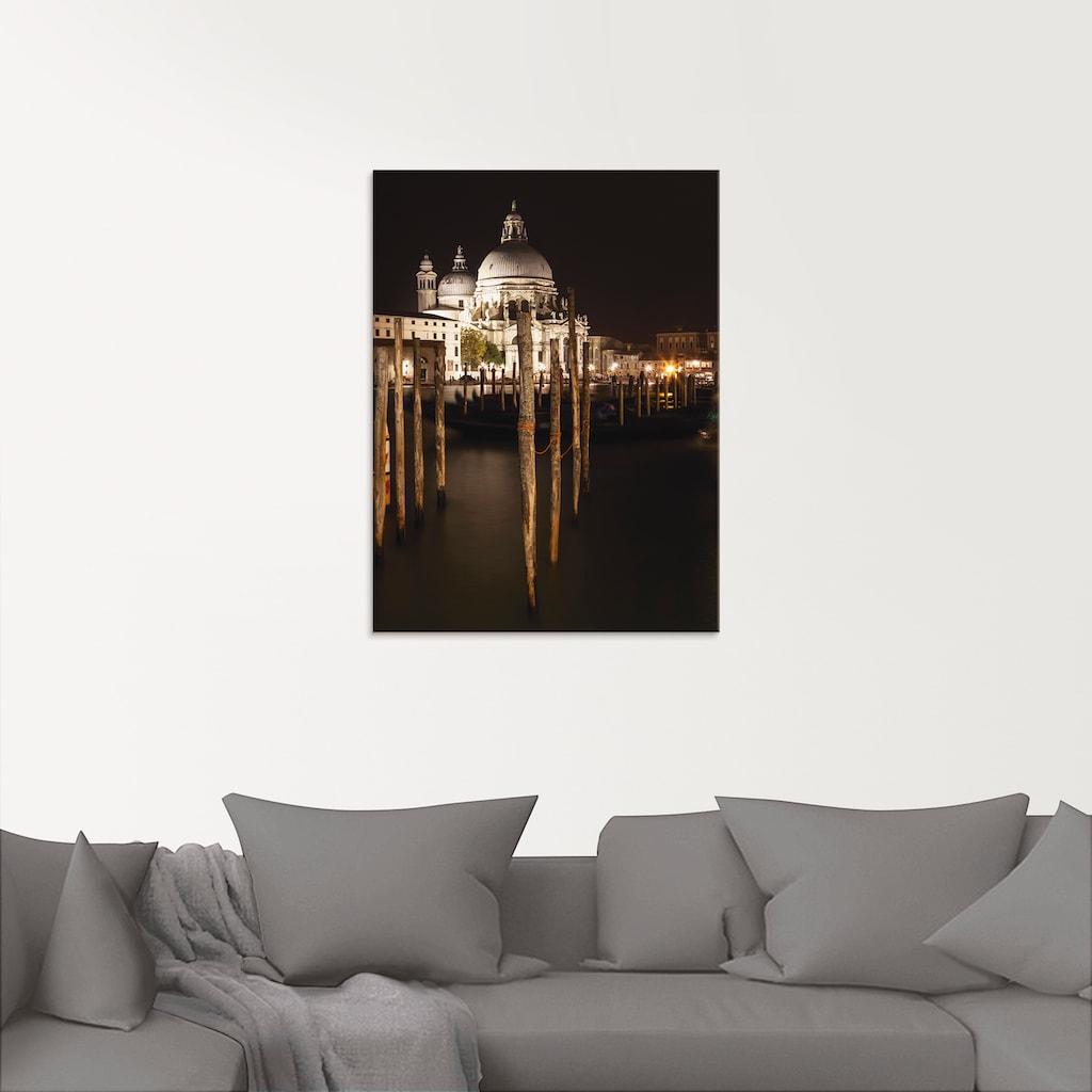Artland Glasbild »Canal Grande Santa Maria della Salute«, Italien, (1 St.)