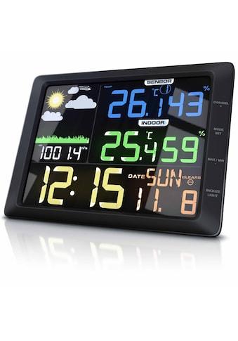 BEARWARE Wetterstation mit großem LCD Farbdisplay »Wettervorhersage / Luftdruck / Temperatur uvm.« kaufen