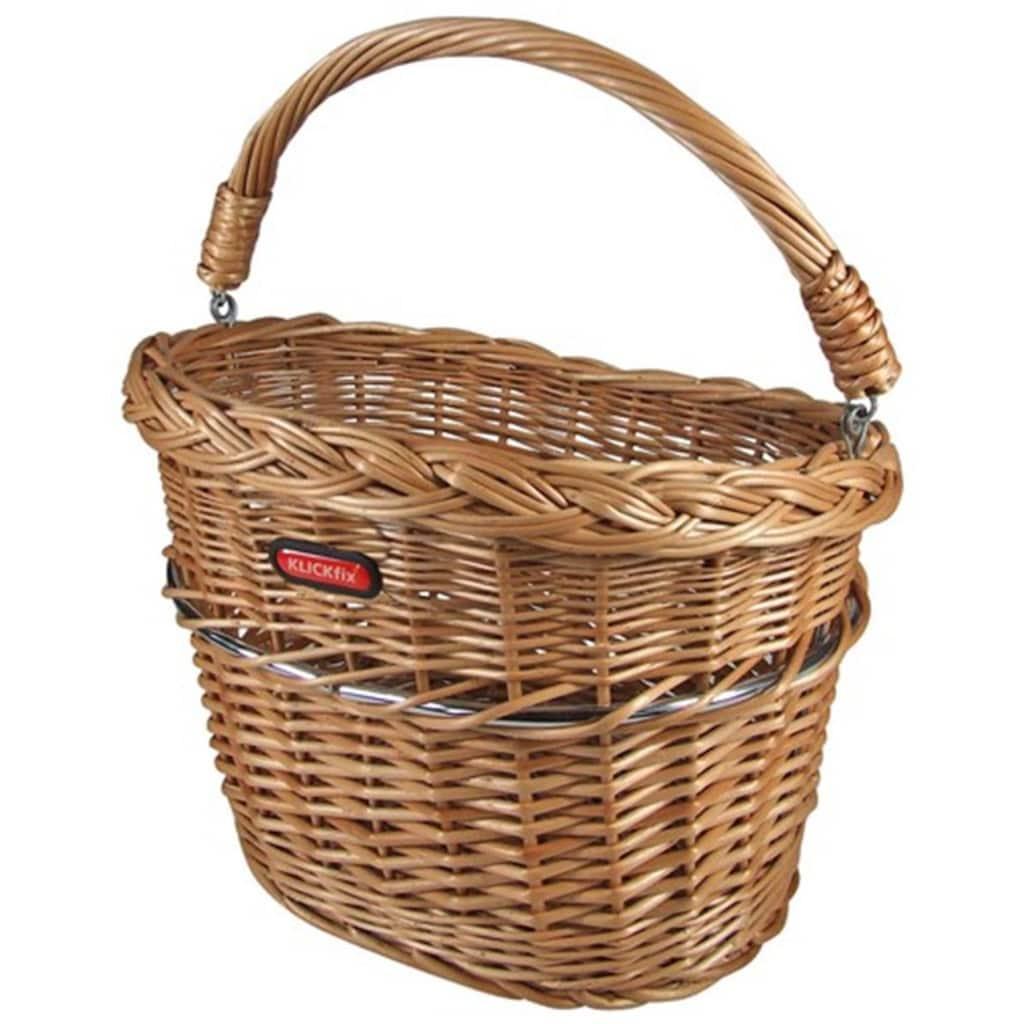 KlickFix Fahrradkorb »Vorderradkorb Weidenkorb Mini«