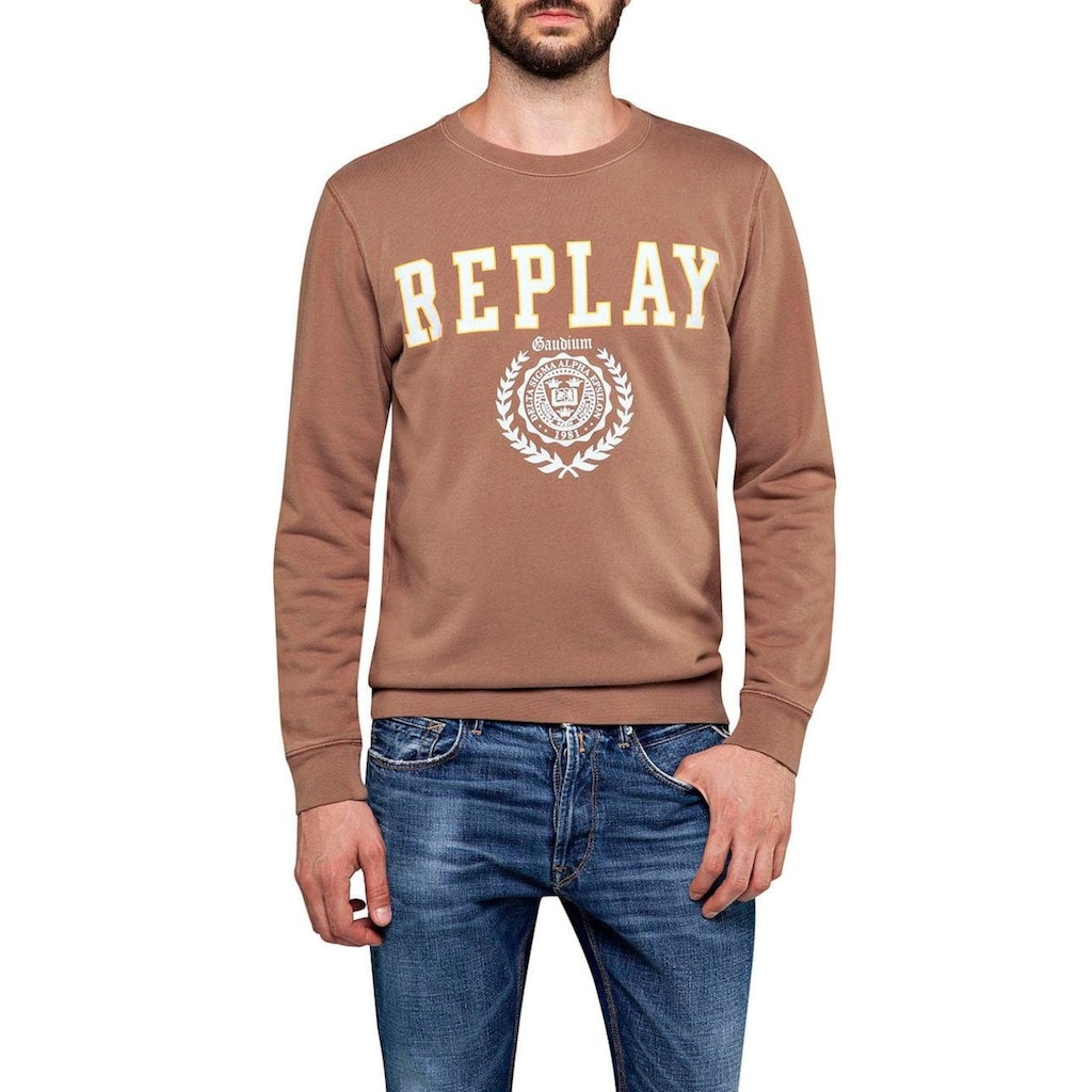 Replay Sweatshirt, im Retro-Look