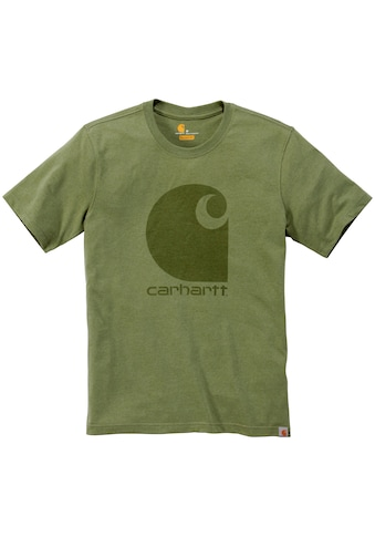 CARHARTT T - Shirt »C - LOGO GRAPHIC S/S T - SHIRT«, OIL GREEN HEATHER kaufen