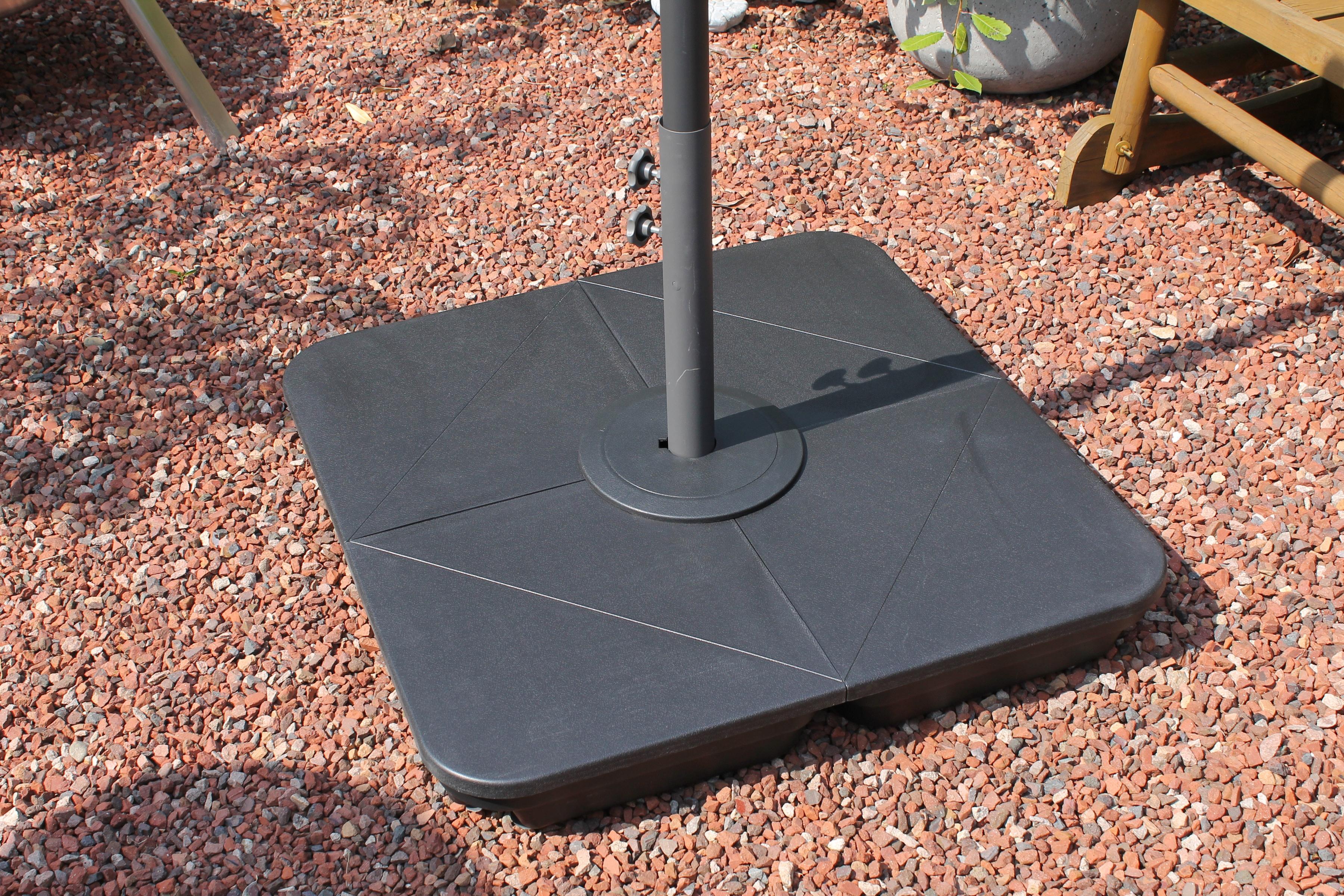 LECO Einlegeplatte, 4-tlg., Kunststoff, für Kreuzschirmständer Ø 83 mm | Garten > Sonnenschirme und Markisen > Sonnenschirmständer | LECO