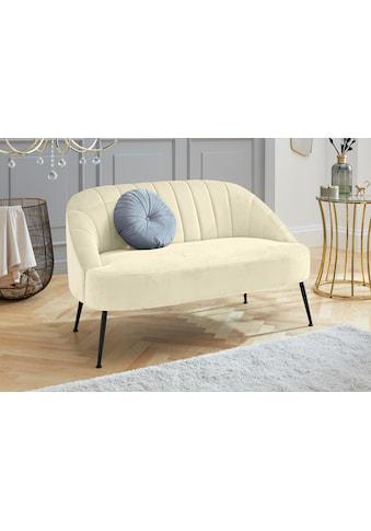 Leonique 2-Sitzer »Quincy«, aus schönem, weichem Samt-Optik Bezug, mit eleganter Raffung im Rückenpolsterbereich kaufen