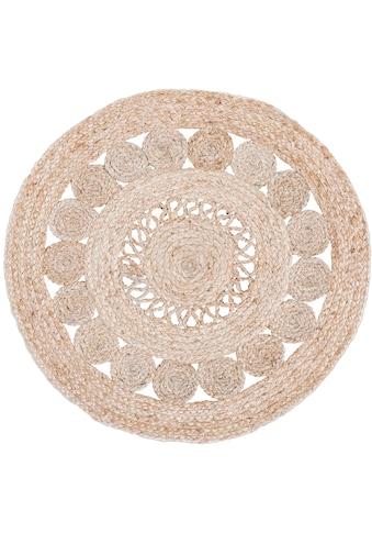 LUXOR living Teppich »Balo«, rund, 6 mm Höhe, natürliche Materialien, Boho-Stil,... kaufen