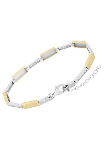 Firetti Armband »Rechteckige Glieder, im Wechsel rhodiniert, Glanz, teilw. vergoldet,... kaufen