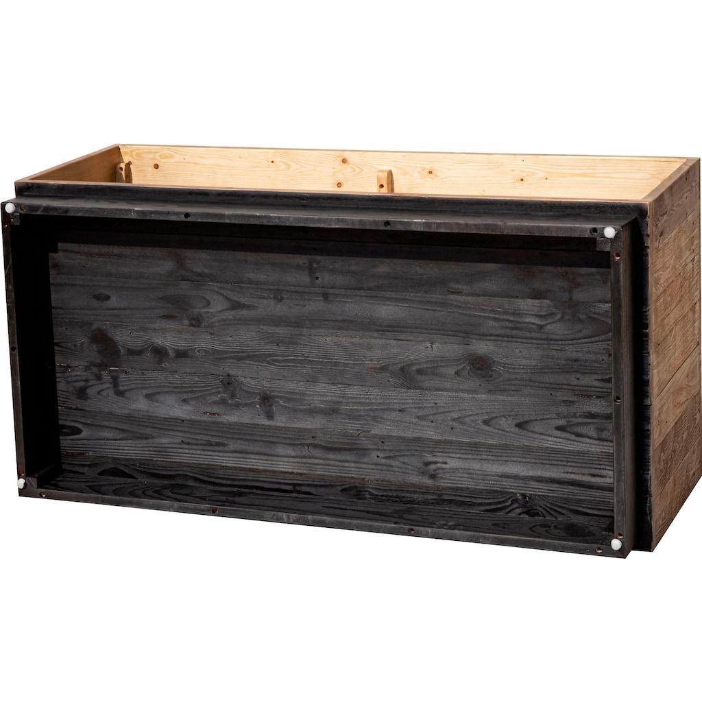 SIT Couchtisch »Old Pine«, aus massivem Pinienholz, Beistelltisch mit Stauraum, Holztisch, Wohnzimmertisch aus Recyclingholz