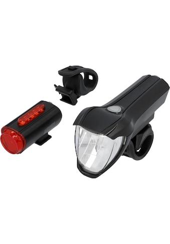 FISCHER Fahrräder Fahrradbeleuchtung, (Set, 3, Front- und Rücklicht), mit zusätzlicher... kaufen