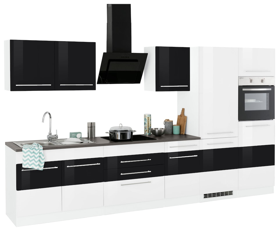 Bildquelle: HELD MÖBEL Küchenzeile »Trient«, Mit E Geräten, Breite 350 Cm