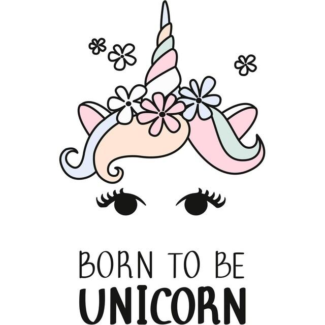 Wandtattoo »Kvilis - Einhornkopf Born to be Unicorn«