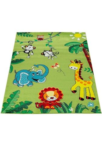 Paco Home Kinderteppich »ECE 958«, rechteckig, 14 mm Höhe, Kurzflor mit süßem Zoo... kaufen