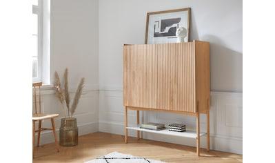 andas Barschrank »Jytte«, Design by Morten Georgsen, mit massiven Holzstreben in der Front. kaufen