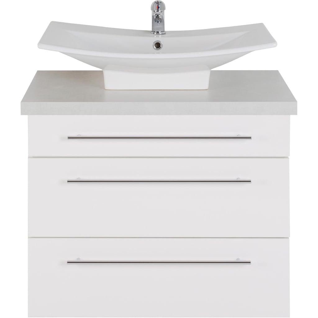 MARLIN Waschtisch »Laos 3110«, Breite 80 cm, Farbe Waschtischplatte & Waschbeckenart wählbar