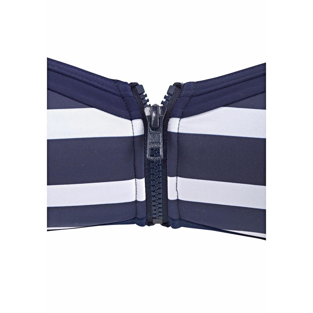 KangaROOS Bandeau-Bikini-Top »Anita«, mit Reißverschluss zwischen den Cups