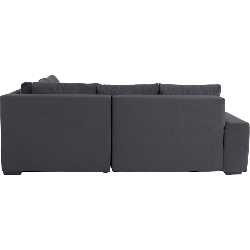 Nova Via Ecksofa »Quebec«, Inklusive Bettfunktion und 2 Bettkästen, wahlweise mit Kaltschaum (140kg Belastung/Sitz) oder Boxspringfederung, zudem frei im Raum stellbar