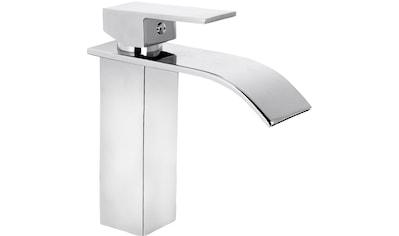 CORNAT Packung: Waschtischarmatur »WT EHM Wasserfall chrom«, Schwall - Auslauf kaufen
