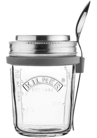 KILNER Vorratsglas, (1 tlg.), für Jogurth, Quark, inkl. Edelstahllöffel, 350 ml kaufen