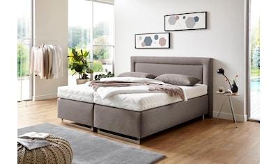 Westfalia Schlafkomfort Boxspringbett, mit Zierkissen und verchromten Kufen, in diversen Ausführungen kaufen