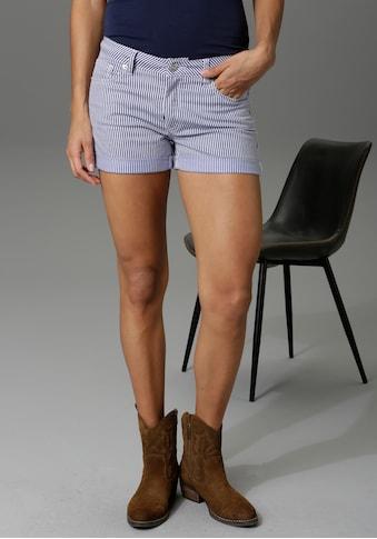 Aniston CASUAL Shorts, im Streifen-Look - NEUE KOLLEKTION kaufen