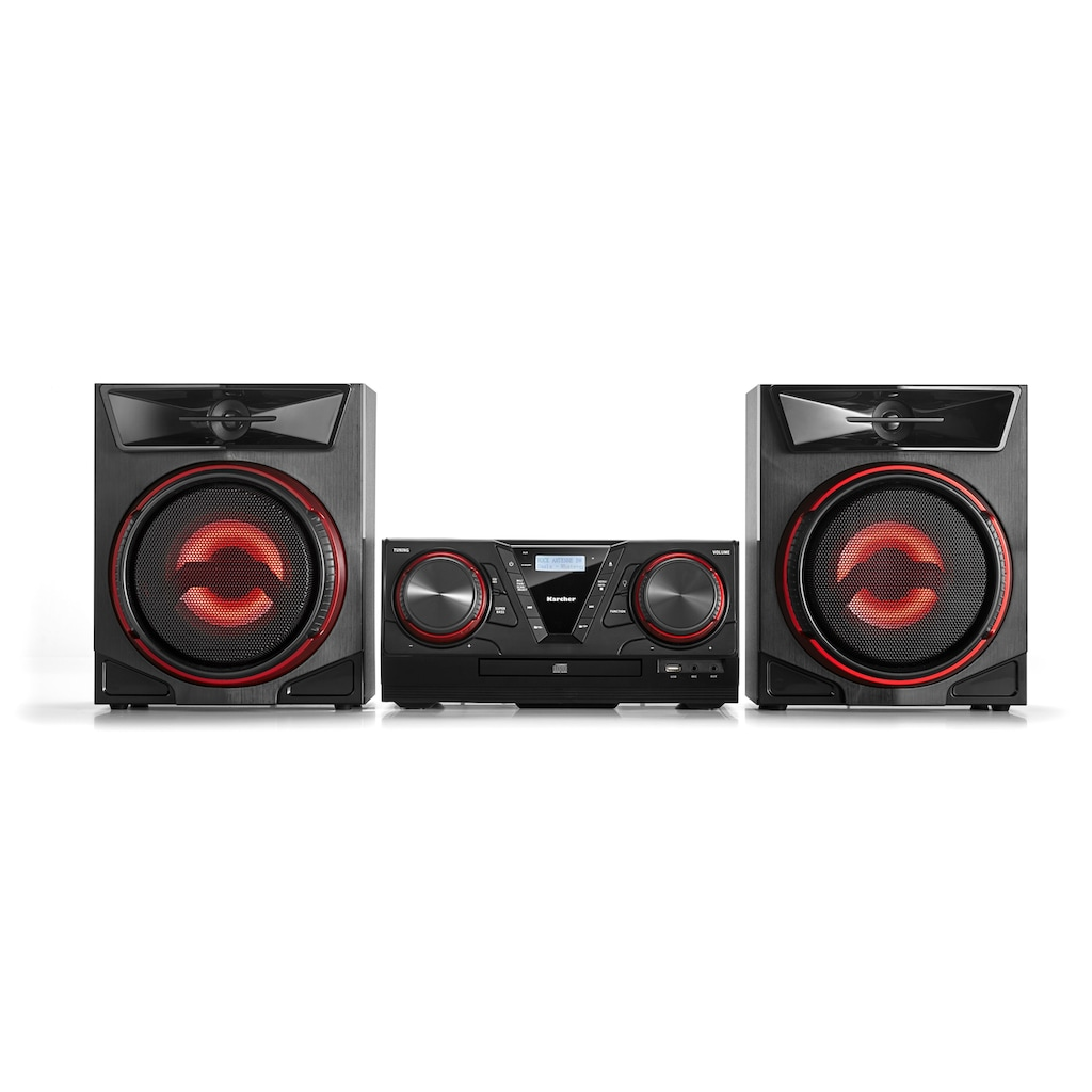 Karcher Stereoanlage »MC 5400D«, (Bluetooth-CD Digitalradio (DAB+) 50 W), mit CD-Player und Bluetooth