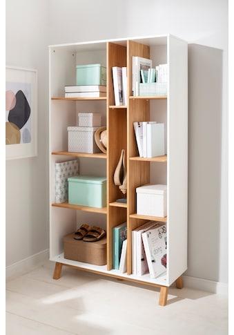 Home affaire Bücherregal »Saillon«, aus massivem Kiefernholz, mit vielen... kaufen