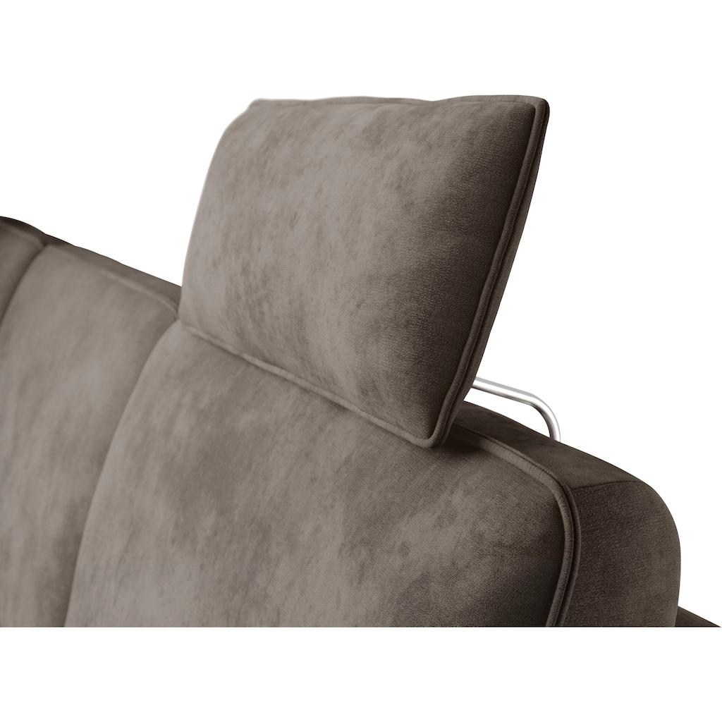 himolla Ecksofa »1920«, ein oder zwei integrierte Relaxsitze, Recamiere rechts oder links, Armlehen verstellbar