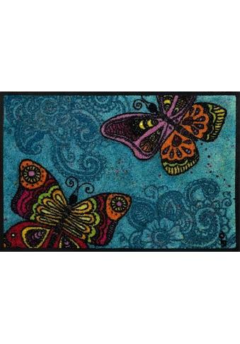 wash+dry by Kleen-Tex Fußmatte »Spread your Wings«, rechteckig, 7 mm Höhe,... kaufen