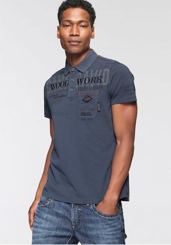 CAMP DAVID Poloshirt, mit diversen Details kaufen