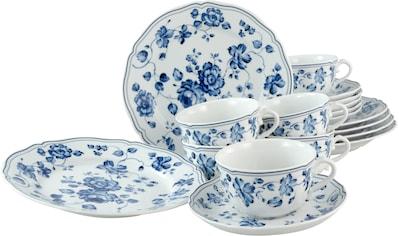 CreaTable Kaffeeservice »ROYAL BLUE FLOWER«, (Set, 18 tlg., 6 Dessertteller 21 cm 6... kaufen
