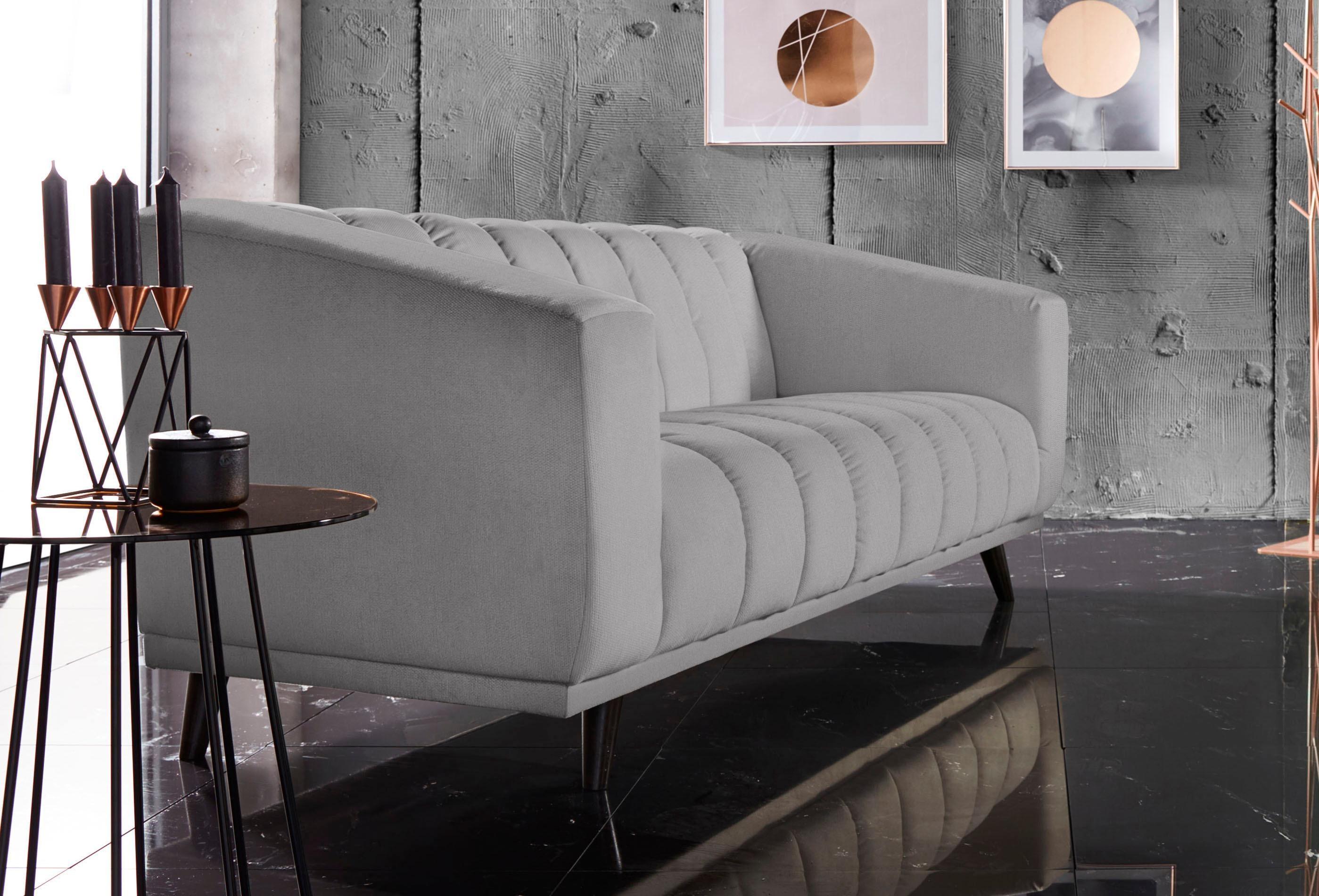 INOSIGN 3 Sitzer »Rimini« Mit Ungewöhnlicher Steppung In Modernem Design