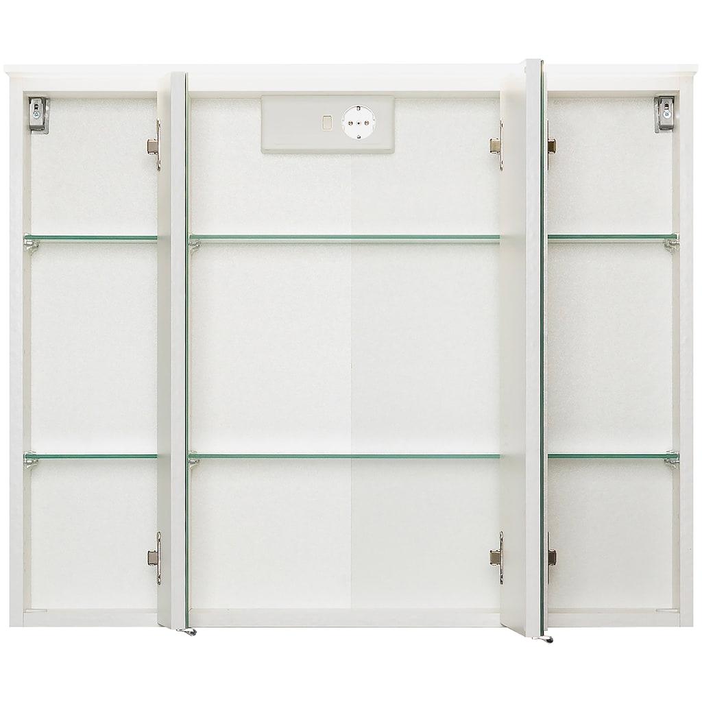 HELD MÖBEL Spiegelschrank »Ravello«, Breite 80 cm, mit LED Beleuchtung und Softclose-Funktion
