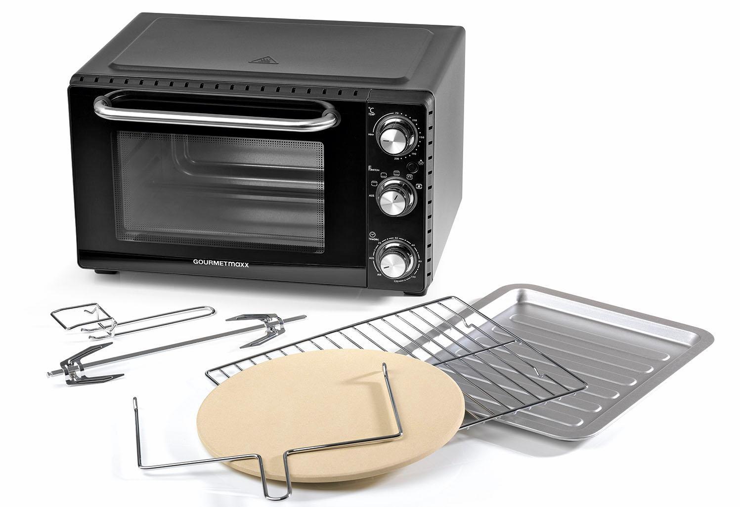 GOURMETmaxx Minibackofen Infrarot-Ofen, 1500 W | Küche und Esszimmer > Küchenelektrogeräte > Küche Grill | Schwarz | GOURMETMAXX