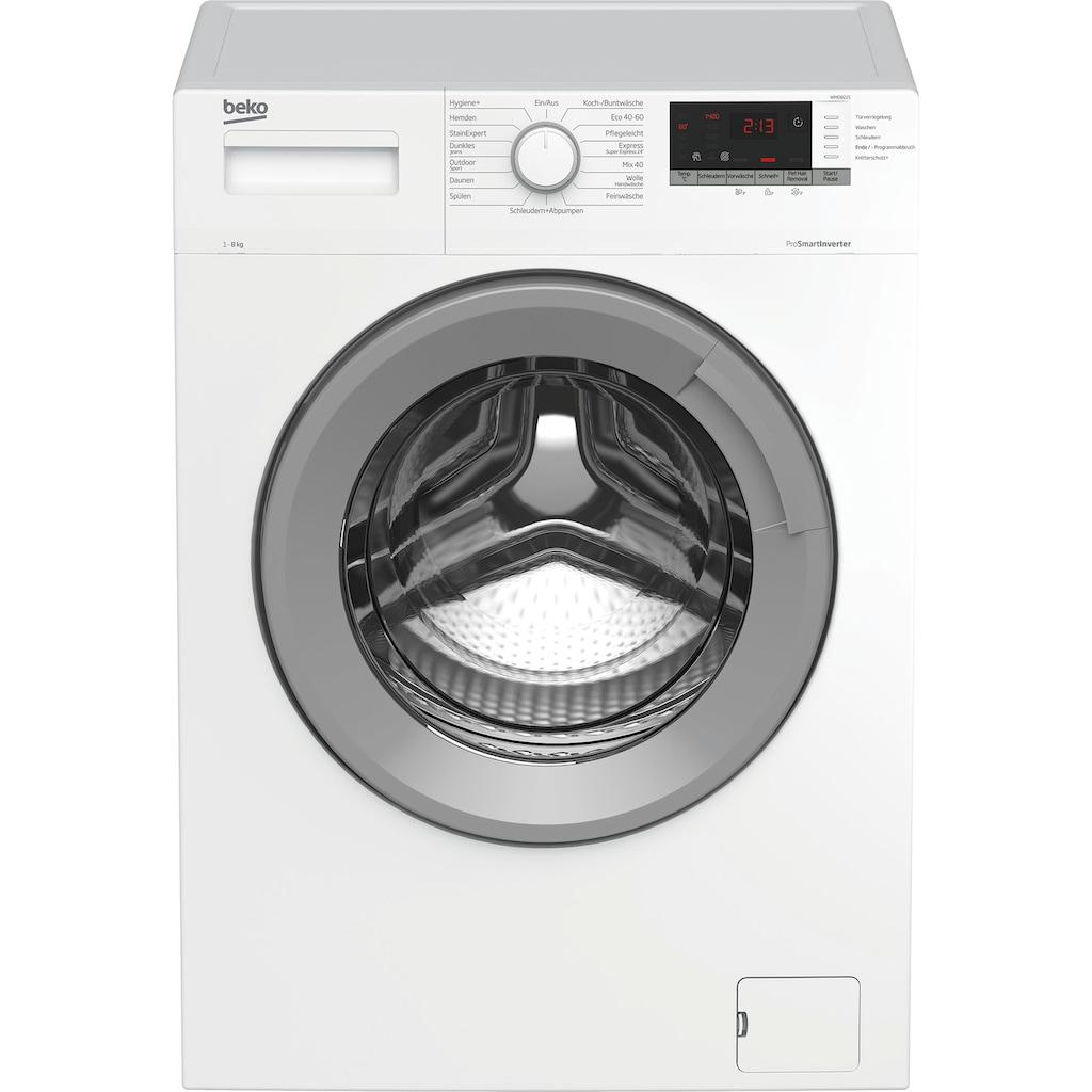 BEKO Waschmaschine »WMO8221«, WMO8221, 8 kg, 1400 U/min
