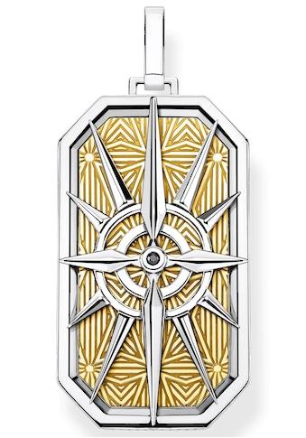 THOMAS SABO Kettenanhänger »Kompass Stern gold, PE868-849-7«, mit Zirkonia kaufen