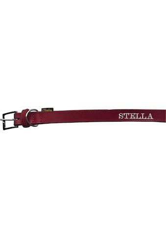 HEIM Hunde-Halsband »Florenz«, Echtleder, mit besticktem Wunschtext kaufen