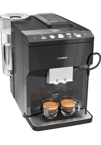 SIEMENS Kaffeevollautomat »EQ.500 classic TP503D09«, einfache Bedienung, Cappucinatore, zwei Tassen gleichzeitig kaufen