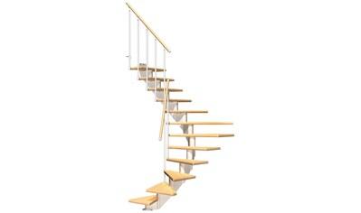 DOLLE Mittelholmtreppe »Hamburg Birke 75«, bis 301 cm, Metallgeländer, versch. Ausführungen kaufen