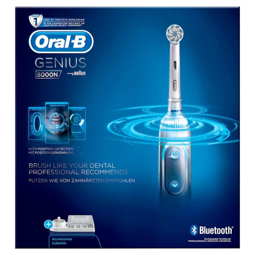 Oral B Elektrische Zahnbürste »Genius 8000N«, 1 St. Aufsteckbürsten