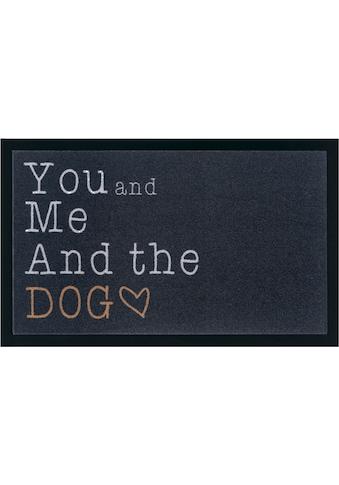 my home Fußmatte »Dog«, rechteckig, 5 mm Höhe, Schmutzfangmatte, mit Spruch, In- und... kaufen