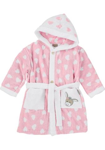 Sterntaler® Babybademantel »Esel Emmi Girl«, mit Herzen kaufen