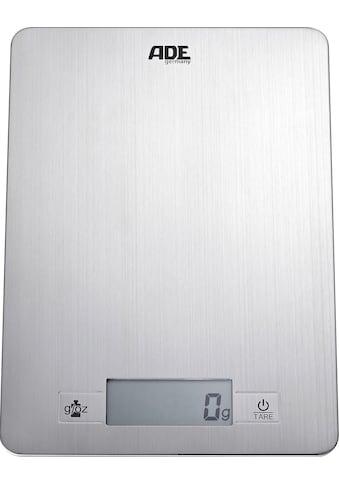ADE Küchenwaage »KE 874 Denise«, 10,5 mm flach, Wiegefläche aus gebürstetem Edelstahl kaufen