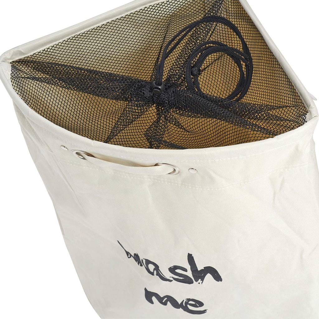 Zeller Present Wäschesack »Wäschekorb, Wash me«, BxTxH: 34x34x56 cm