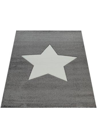 Paco Home Teppich »Cosmo 397«, rechteckig, 18 mm Höhe, Kinder Design, Stern Motiv in Pastell-Farben kaufen