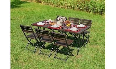 Garden Pleasure Gartenmöbelset »TABORA«, (Set, 7 tlg.) kaufen