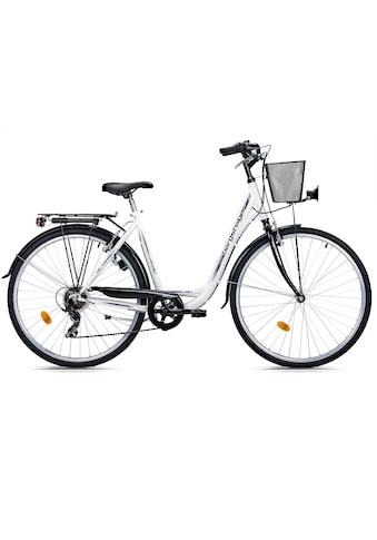 bergsteiger Cityrad »Florenz«, 7 Gang Shimano Tourney RD - TY21 Schaltwerk, Kettenschaltung kaufen