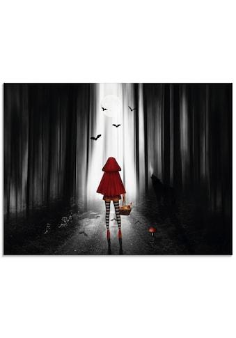 Artland Glasbild »Das Rotkäppchen auf High Heels«, Dark Fantasy, (1 St.) kaufen