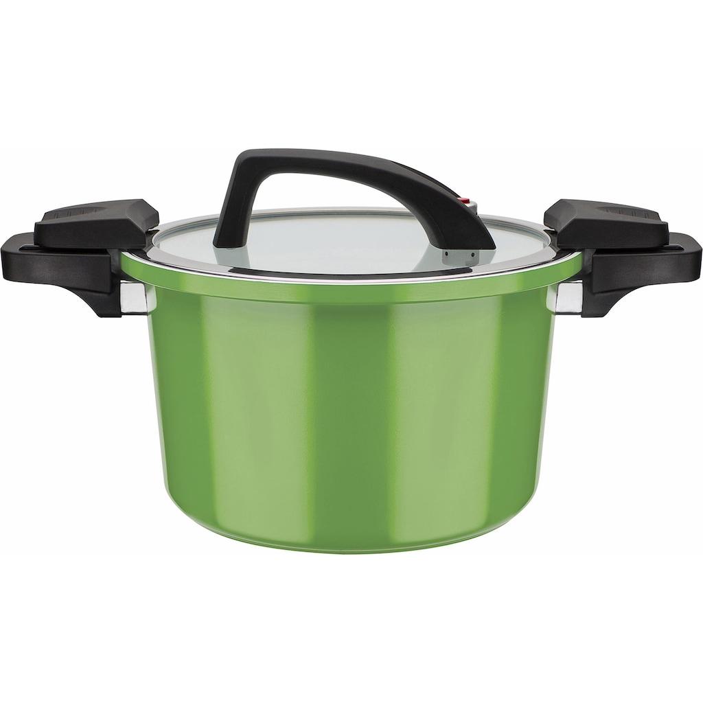 GSW Dampfgartopf »ceramica green«, Aluminium, (1 tlg.), Induktion